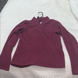 North face fleece pull over